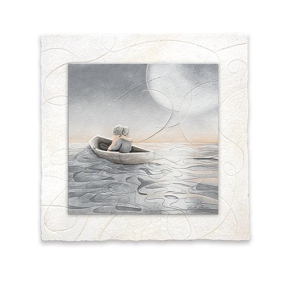 """""""Notte di San Lorenzo"""": formella 40x40 cm"""