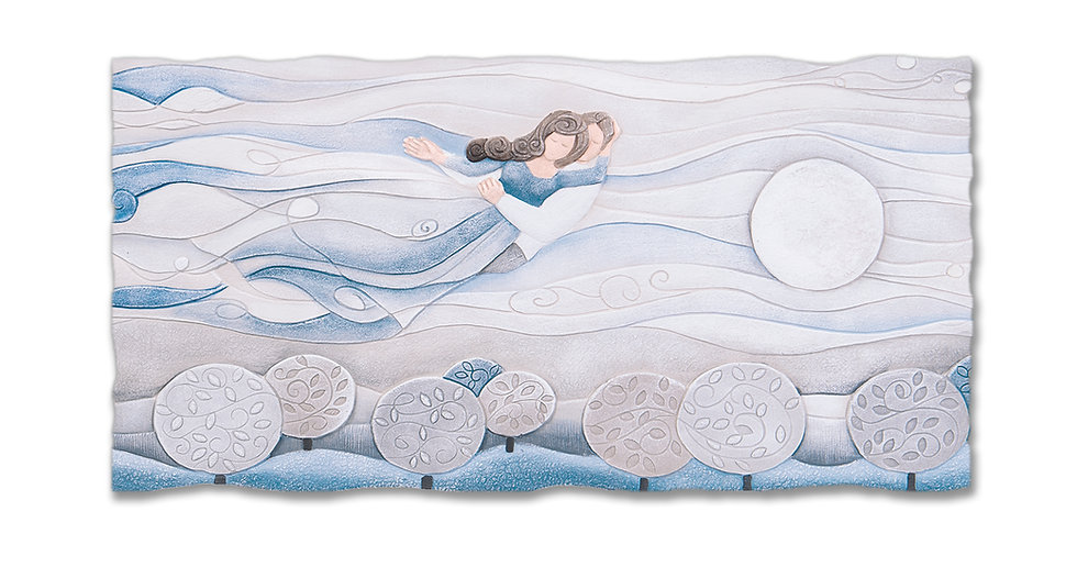 """Sogno"": quadro sagomato 90x45 cm"