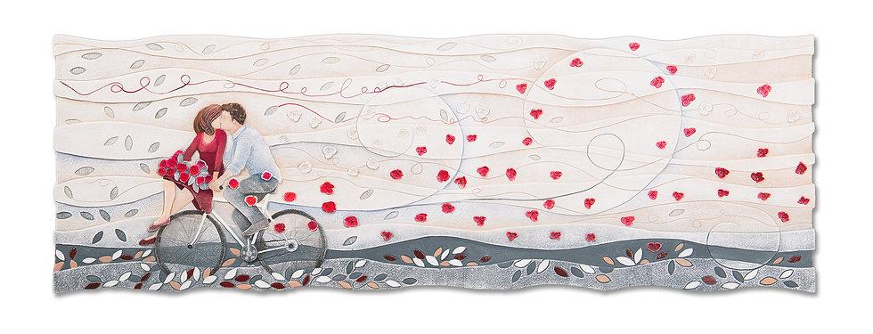 """""""Vieni Via con Me"""": quadro sagomato 150x50 cm"""