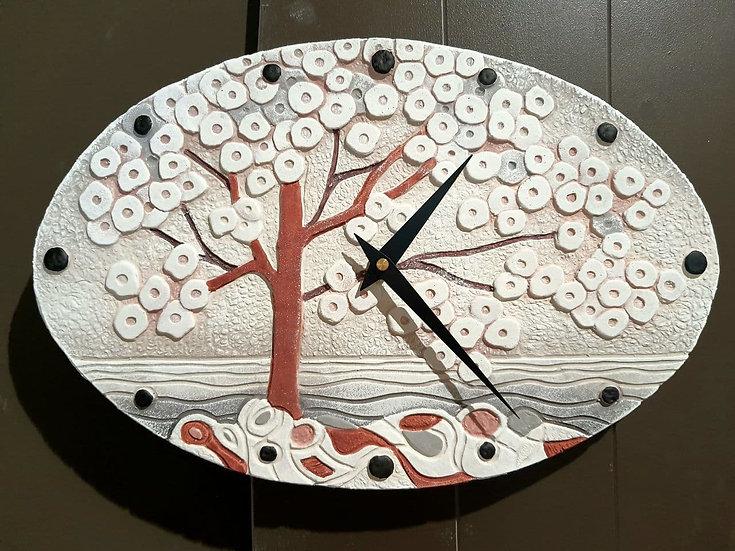 """Pezzo Unico """"La Prima Luce"""": orologio da parete 40x25 cm"""