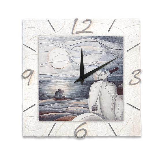 """""""Vento d'Estate"""": orologio da parete 40x40 cm"""