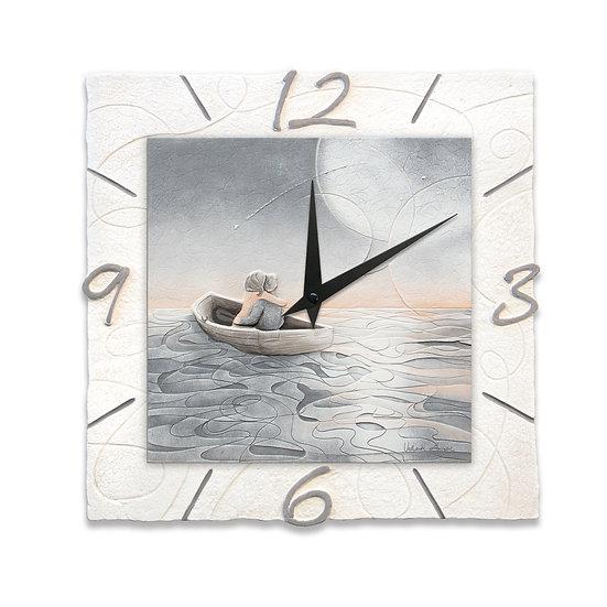 """""""Notte di San Lorenzo"""": orologio da parete 40x40 cm"""