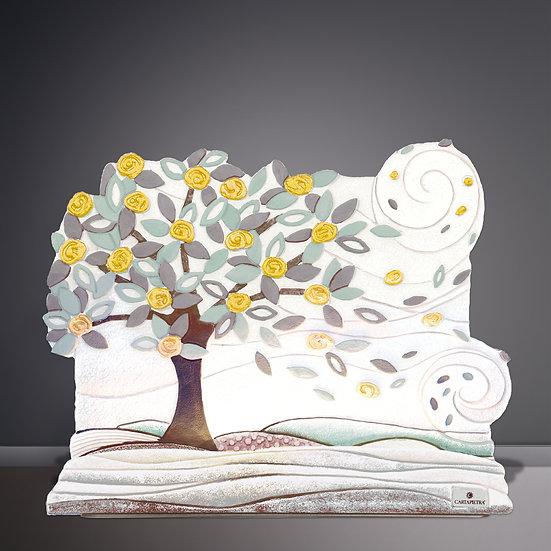 """Fuori Catalogo """"Foglie al Vento"""": scultura luminosa L 45 cm I H 38 cm I"""