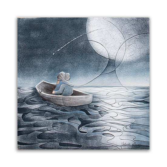 """""""Notte di San Lorenzo"""": quadro 60x60 cm"""