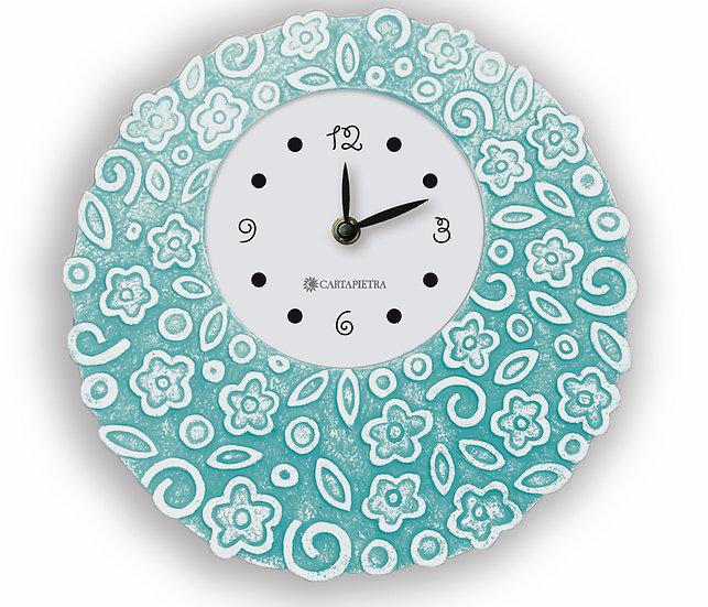 """Fuori Catalogo """"Prati in Fiore"""": orologio da appoggio/da parete Ø 23 cm"""