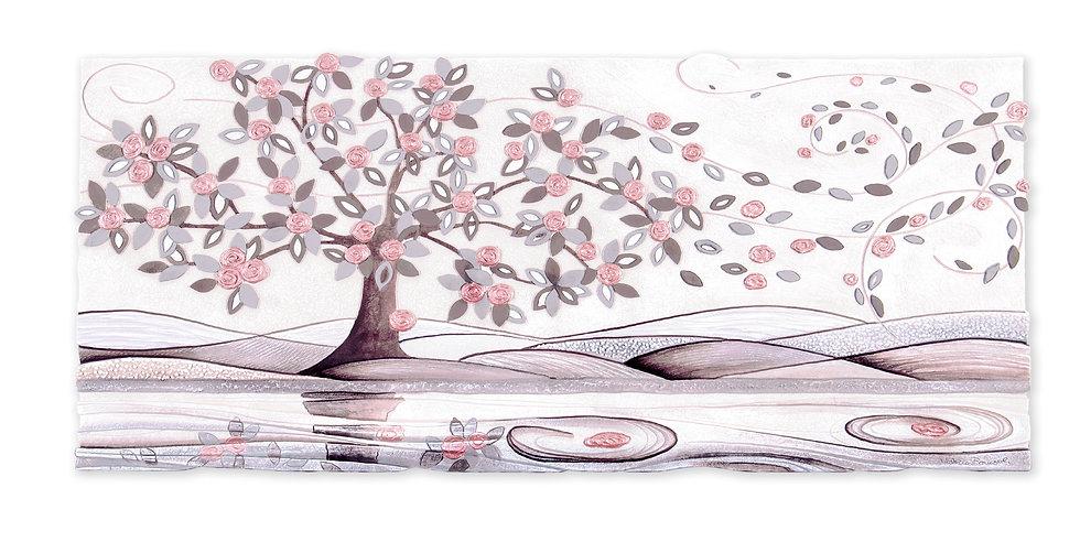 """""""Foglie al Vento"""": quadro sagomato 130x60 cm"""