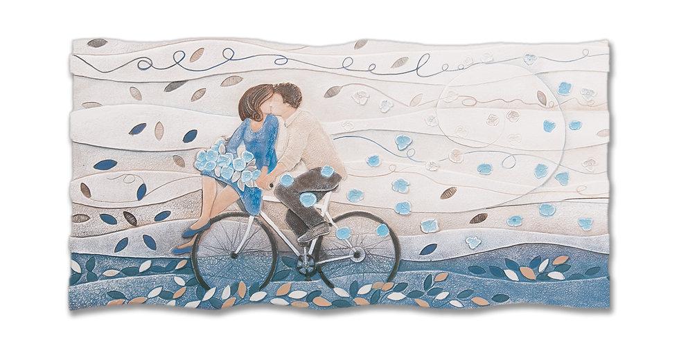 """""""Vieni Via con Me"""": quadro sagomato 90x45 cm"""