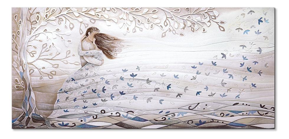 """Tra le Tue Braccia"": quadro 150x70 cm"