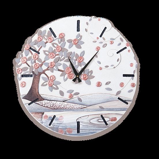 """Foglie al Vento"": orologio da parete ø 70 cm"