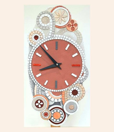 """Pezzo Unico """"Eclettica"""": orologio da parete 22x45 cm"""