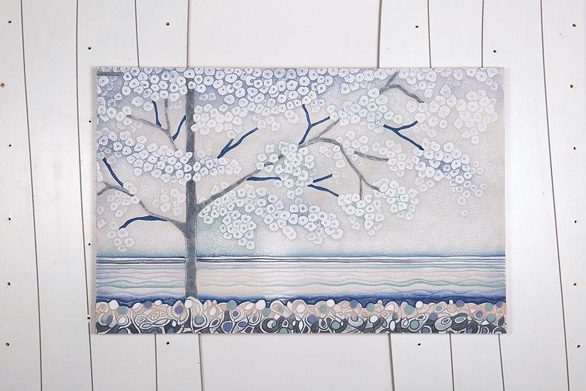 """Pezzo Unico """"La Prima Luce"""": quadro 80x55 cm"""