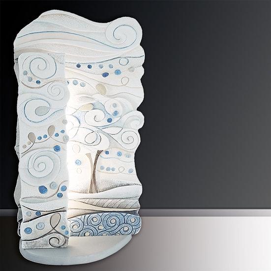 """Fuori Catalogo """"L'Albero dei Sogni"""": scult. luminosa L 24 cm I H 47 cm I P 16 cm"""