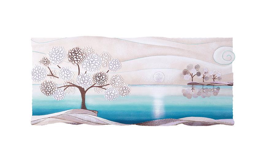 """""""Un Posto Tranquillo"""": quadro sagomato 130x60 cm"""