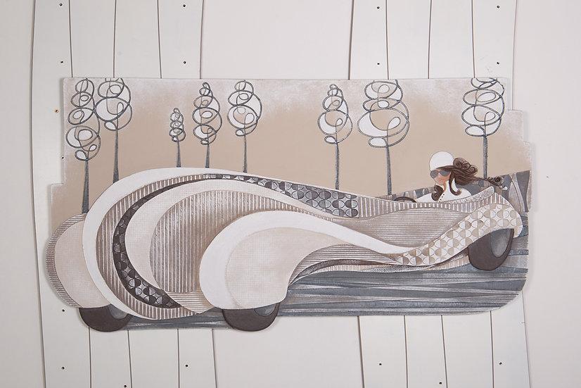 """Fuori Catalogo """"Anni Ruggenti"""": quadro sagomato 130x70 cm"""