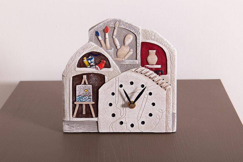 """Fuori Catalogo """"Impara l'Arte"""": orologio da appoggio/da parete 21x22 cm"""