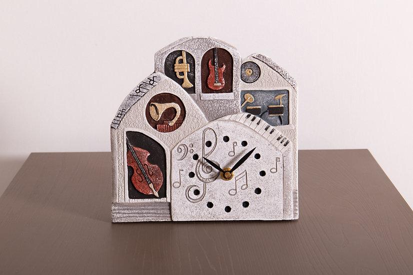 """Fuori Catalogo """"Sette Note"""": orologio da appoggio/da parete 21x22 cm"""
