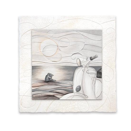 """Vento d'Estate"": formella sagomata 40x40 cm"