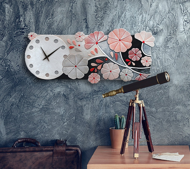 """Rugiada"": orologio da parete 55x24 cm"