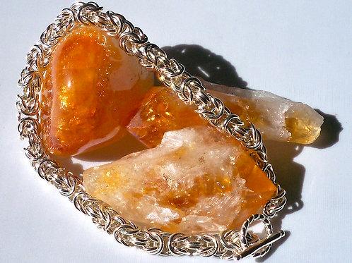Woman's Byzantine Weave Bracelet. Sterling Silver.