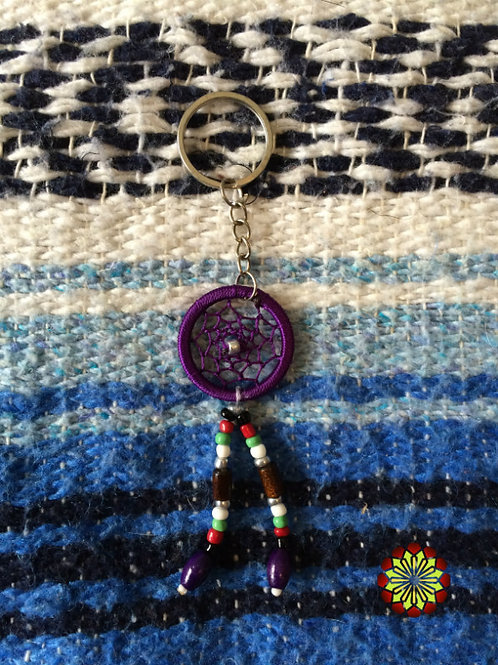 Dreamcatcher Key Ring Amethyst Colour