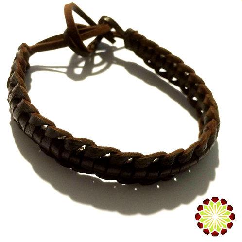 Leather Bracelet / Anklet Hand Made Caterpillar design