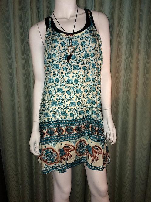 Thai Beach Dress. Green.
