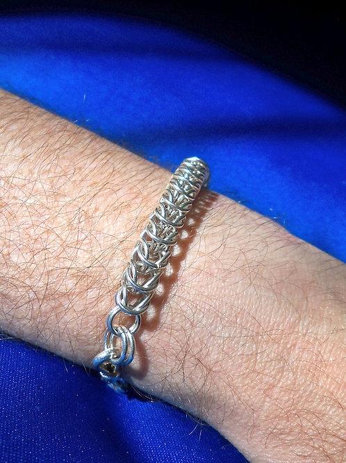 Men's Box Weave Sterling Silver Bracelet.