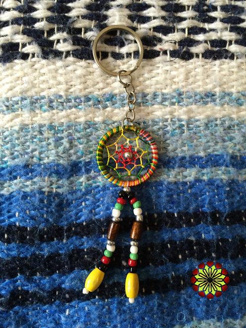 Dreamcatcher Key Ring Rainbow