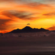 Sunset on Mt Rinjani, Indonesia