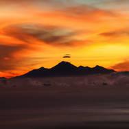 Sunset on Mt Rinjani, Indonesia