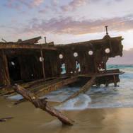 Maheno shipwreck, QLD