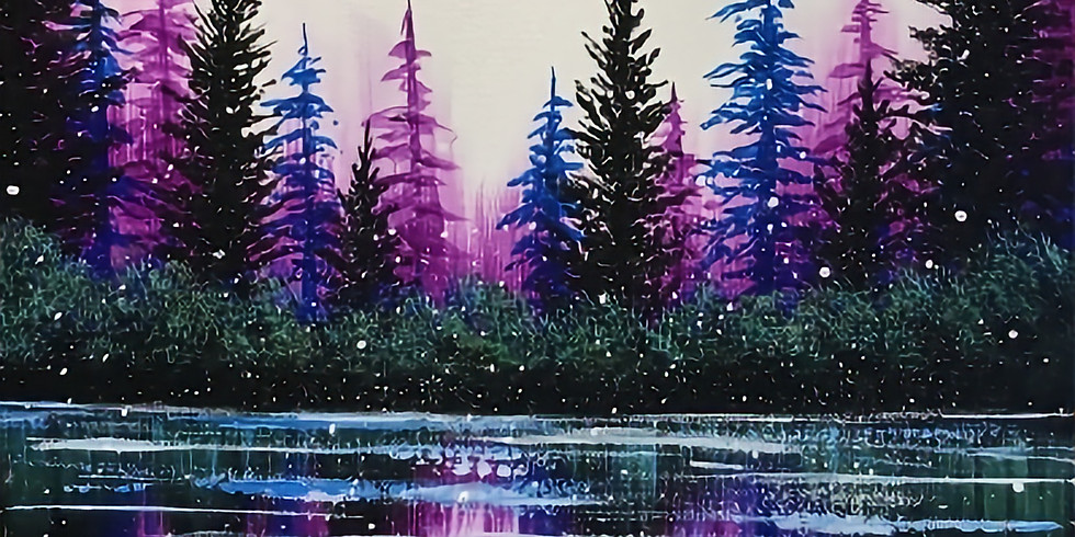 Paint Night - Frosted Lake