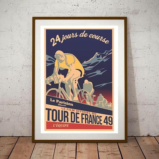 Art Deco 24 Tour De France 1949 Poster