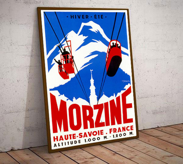 Art Deco Morzine France Ski Poster