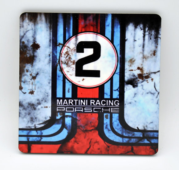 Porsche Martini Oil, Mud and Racing Coaster - Cork Backed