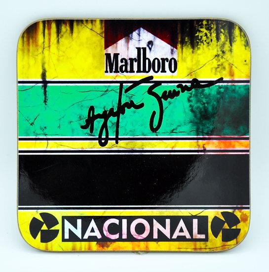 Ayrton Senna Nacional Marlboro  Oil, Mud and Racing Coaster - Cork Backed