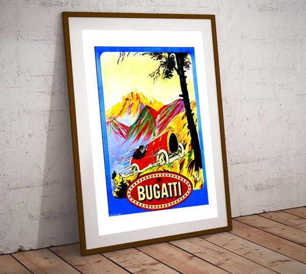 Art Deco Poster Bugatti Hill Climb Race