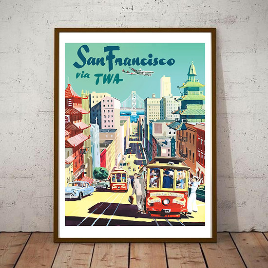 Art Deco San Francisco via TWA Poster