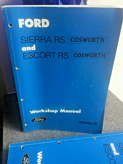 FORD COSWORTH Sierra and Escort RS Factory Workshop Manuals & Parts Manual