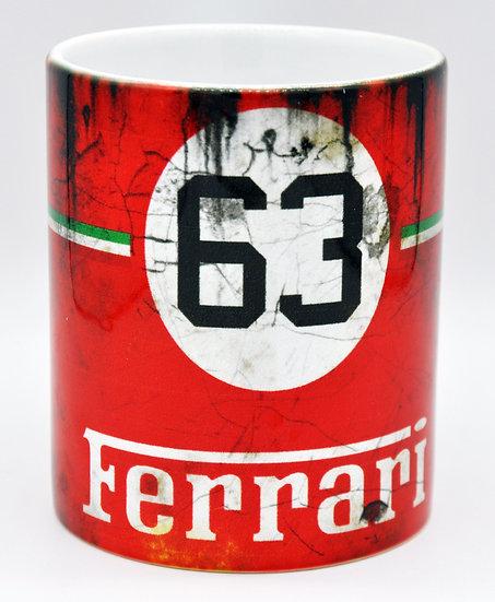 Ferrari 63 Oil, Mud and Racing 11oz Mug