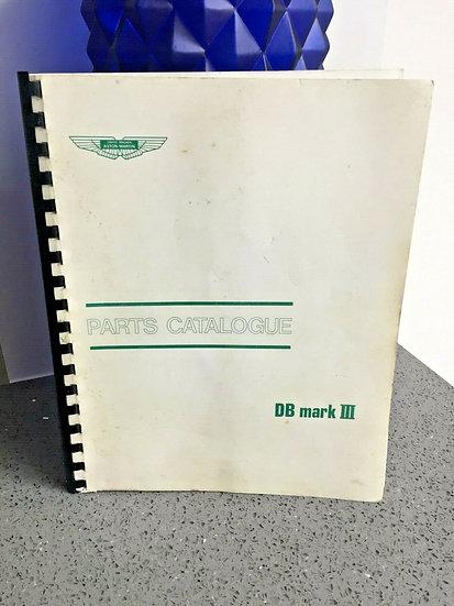 ASTON MARTIN DB MKIII Factory Parts Catalogue Workshop Manual