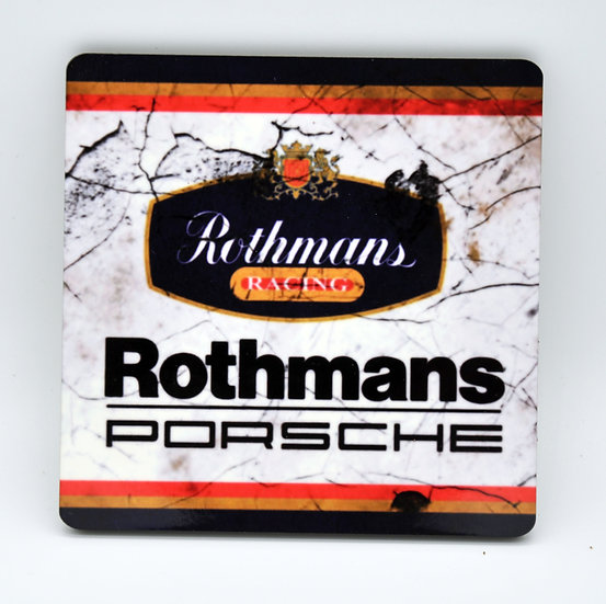 Rothmans Porsche  Oil, Mud and Racing Coaster - Cork Backed