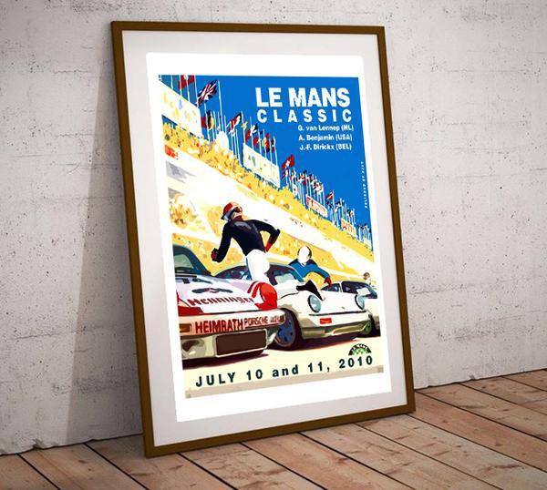Art Deco Le Mans Classic 2010 Poster