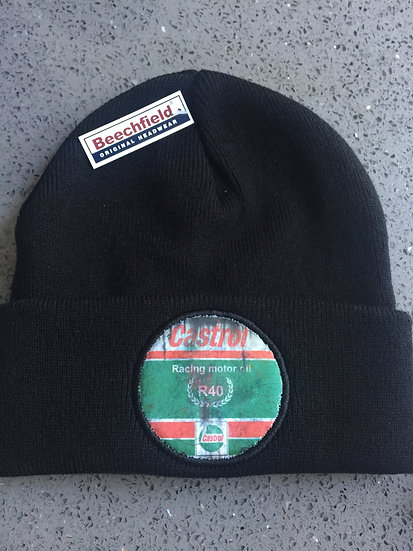 Castrol R Racing Motor Oil Retro Black Beanie Warm Hat - One Size fit
