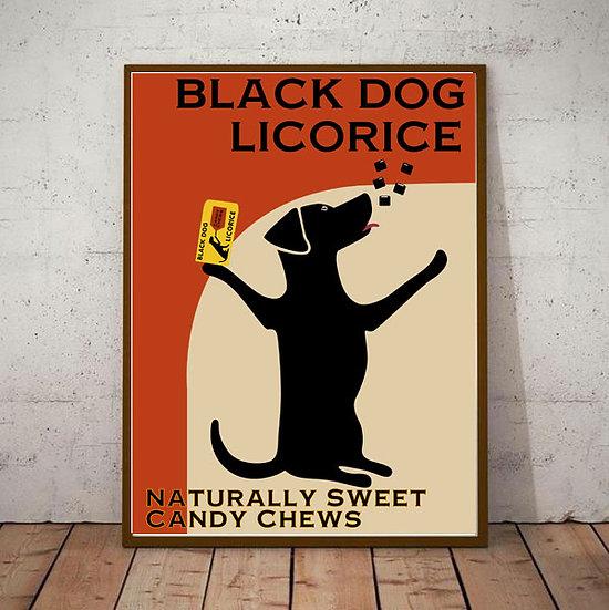 Art Deco Poster Black Dog Licorice