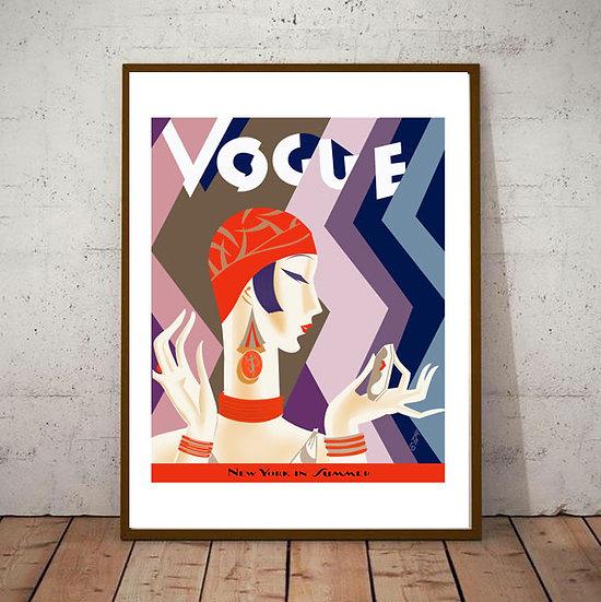 Art Deco Vogue Cover Fashion 20s 30s version 2