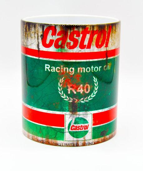 Castrol R40 Racing Motor Oil, Mud and Racing 11oz Mug