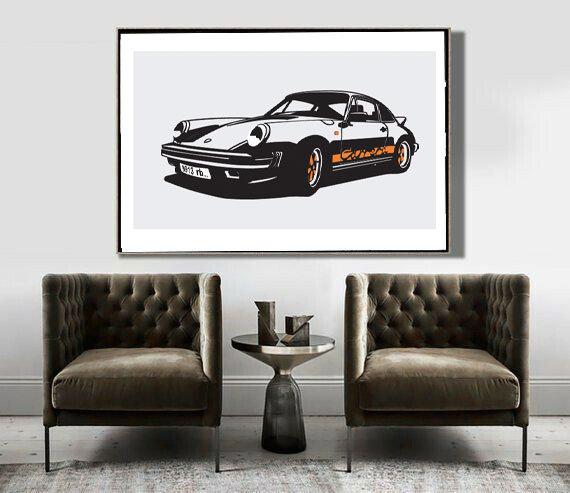 Art Deco Poster Porsche Carrera RS 911