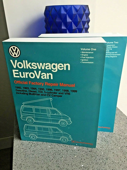 VOLKSWAGEN T4 EUROVAN & CAMPER Bentley Workshop Manual 2 Vol Set