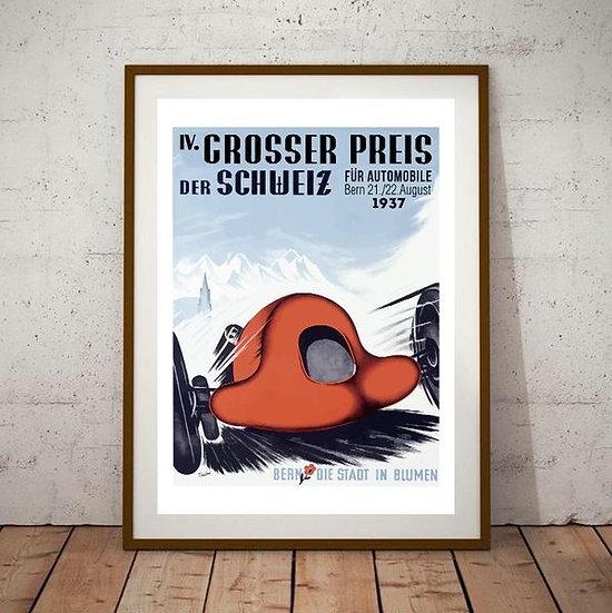 Art Deco Grosser Preis Der Schweiz 1937 Grand Prix Poster